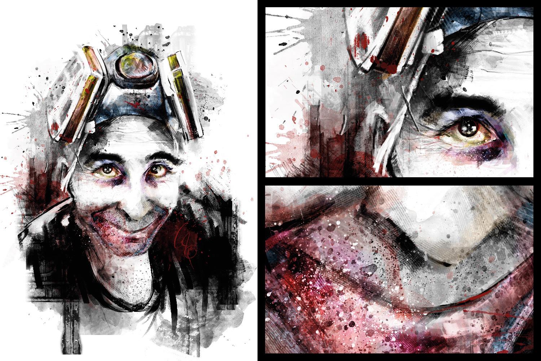 vandervale cedric-digital painting-psycho